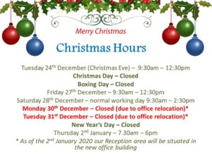 Christmas Opening Hours Space Saver Storage